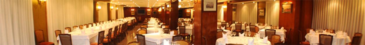Salon para 250 comensales en el restaurante La Parrilla de Tudela, Navarra