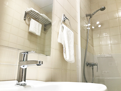 baño en Hostal La Parrilla Tudela Navarra